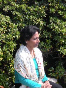 Sarada Chiruvolu meditating